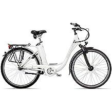 E-Bike Hawk Deep-Z City Pedelec mit integriertem Akku und 7 Gang Nabenschaltung 26 und 28 Zoll