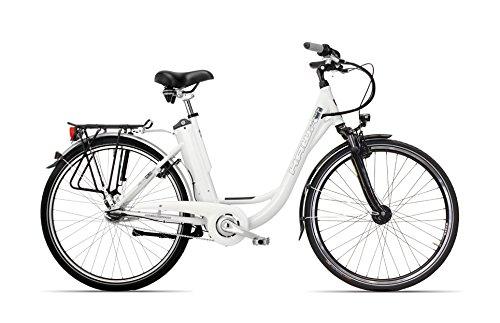 HAWK Bikes Deep-Z E-Bike - City Pedelec mit integriertem Akku und 7 Gang Nabenschaltung 26 Zoll