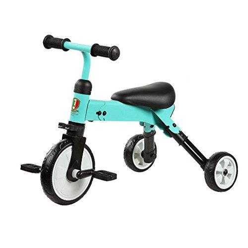 Bicicleta plegable de la vespa del niño del triciclo de los niños que dobla GAOLILI Color : Azul
