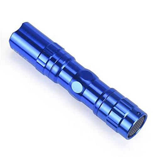 Zhuhaimei,Mini Super Bright 3W LED Lampe Taschenlampe Fokus Taschenlampe Licht wasserdicht Schlüsselanhänger R(Color:BLAU)