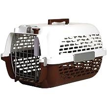 Dogit Transportín para Perros, Talla Extra-Grande, Color Marrón y Blanco, 66 x 45 x 43 cm