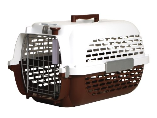 Dogit Transportín para Perros, Talla Extra-Grande, Marrón/Blanco, 66 x 45 x 43 cm