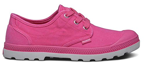 Palladium Pampa Oxford Lp, Baskets Basses femme Pink (BEETRT PRPL/SLV 693)
