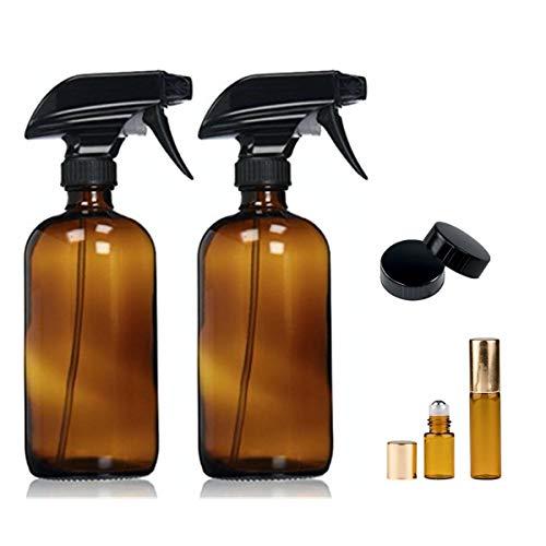 YCOO 2250ml Bernstein Glas Spray Flaschen Trigger Wasser Spritzen Zerstäuber Öl Flasche Spender Behälter -