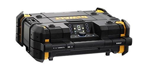 Radio sur batterie DeWalt DWST1-81078TStak - DAB+, FM - Avec fonction charge 10,8V-54V, Bluetooth - IP54 - Caisson de basse intégré par  Dewalt