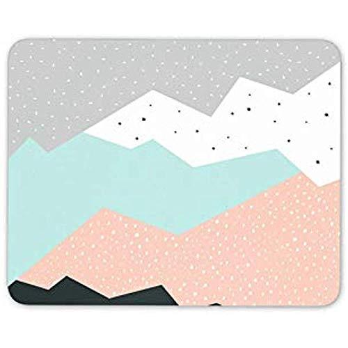 Mousepad Pastell Berge Mauspad Pad Abstrakte Kunst Winter Schnee Computer Geschenk 25X30Cm -