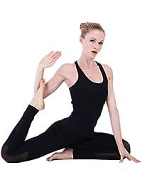 Sujetador de Yoga Transpirable y de Secado rápido Chaleco de Yoga Apretado Flaco Femenino Sujetador Deportivo Ajustable (Color : Negro, tamaño : XL)