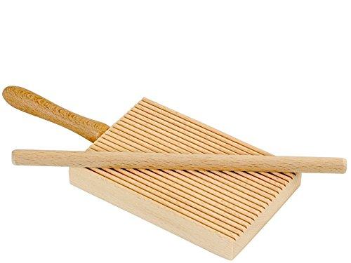 Elettro center art.298 rigagnocchi con asta per garganelli, legno, beige