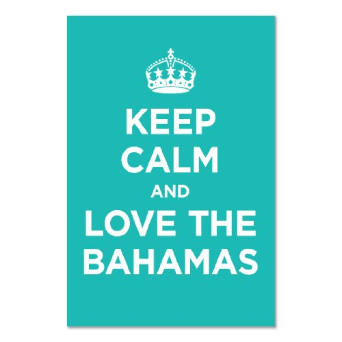 Poster art print: KEEP CALM LOVE BAHAMAS TURQUOISE BLUEISH GREEN WW2 WWII PARODY SIGN (A1 maxi - 61x91.5cm / 24x36in, glossy photo paper, gift artwork home decor decorative)