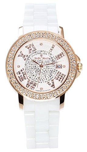 Stella Maris STM15P3 - Reloj de Cuarzo con Correa de cerámica para Mujer, Color Blanco