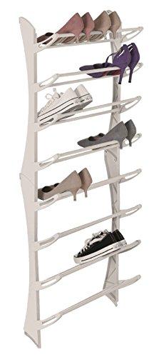 Platzsparende Schuhregal für die Tür mit 8 Schuhablagen für 24 paar Schuhe Schuhständer...
