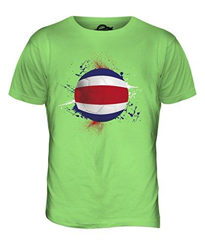 CandyMix Costa Rica Calcio T-Shirt da Uomo Maglietta Verde Lime