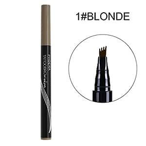 Makeup Tattoo Eyebrow Pen❤️❤️LILICAT Waterproof Pencil Long Lasting Fork Tip Sketch Tattoo Cosmetics Not Fade Eyebrow Tattoo Eyebrow Pen (A)