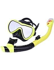 b4f45404c9 HEYG-Diving equipment Máscara de Buceo Gafas Snorkel Natación Traje  Completo de Snorkel seco Paja