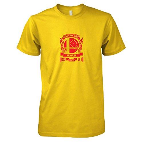 Bros Smash Kostüm - TEXLAB - Smash Brawler - Herren T-Shirt, Größe XXL, gelb