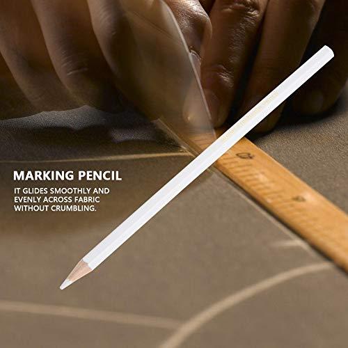 Delaman 12 stücke Schneider Kreide Bleistift, Wasserlöslicher Bleistift Weiß Nähen Markierstift, Schneiderin Praktisches Werkzeug