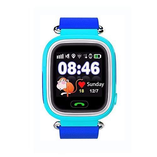 Jslai Enfants Smart GPS Montre Tracker Écran Tactile Smartwatch pour Enfants Filles Garçons avec SOS Anti-Perdu Réveil GPS Enfant Tracker Smart Montre-Bracelet pour iPhone Android Compatible (Bleu)