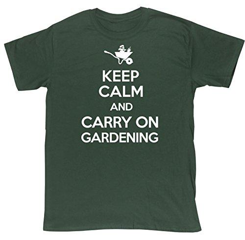 hippowarehouse-keep-calm-and-carry-on-gardening-unisex-short-sleeve-t-shirt