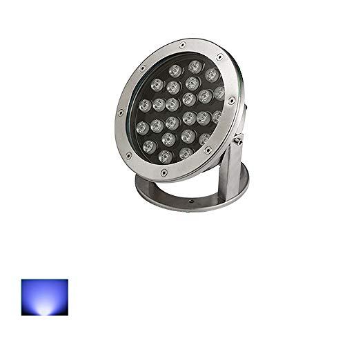 24W impermeabile IP68 impermeabile LED Spotlight Underwater Safe Paesaggio stagno Piscina Fishery Under-Water Spot Light (Color : Blue light-24V)