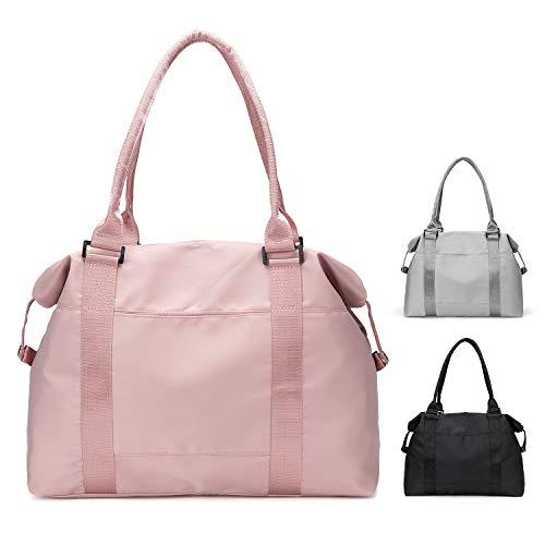FEDUAN original Shopping-Bag Reisetasche Sporttasche faltbar wasserfest groß leicht Handgepäck Weekender Handtasche Einkaufstasche Freizeit-Tasche Damen Einkaufen rosa pink Rose