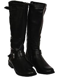 PILOT® elizabeth genou plat haute détail de botte de boucle