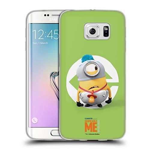 Head Case Designs Offizielle Despicable Me Stuart Baby Kostuem Minions Soft Gel Huelle kompatibel mit Samsung Galaxy S6 Edge
