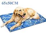 Pawskido Tappetino rinfrescante per Cani, 65 x 50 cm, con Cuscinetto in Gel per Mantenere i Cani freschi