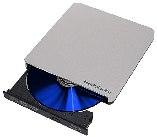 techPulse120 USB 3.0 3D Scrittore Lettore Blu-Ray BD Combo Rom Masterizzatore Esterno Unità Blueray DVD CD Adattatore Burner Bruciatore CD/DVD Esterna DVD-R CD-RW Masterizzare SuperDrive per PC Laptop Notebook Ultrabook Computer Apple Macbook Macbook Pro Macbook Air Compatibile con Mac OS XP Vista Linux Win Windows 7 / 8 / 10