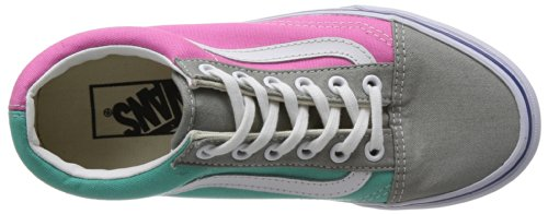 Vans U Old Skool, Baskets mode Homme Multicolore (Gray/Pink)