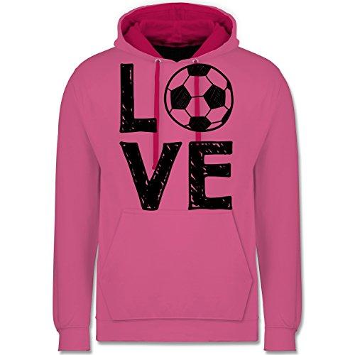 Fußball - Love Fußball - Kontrast Hoodie Rosa/Fuchsia