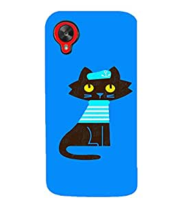 EPICCASE Captain Cat Mobile Back Case Cover For LG Google Nexus 5 (Designer Case)