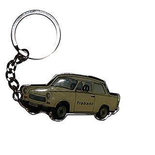 Freak Scene® Schlüsselanhänger ° Trabant aus Metall ° Taschenanhänger ° Farbe: beige