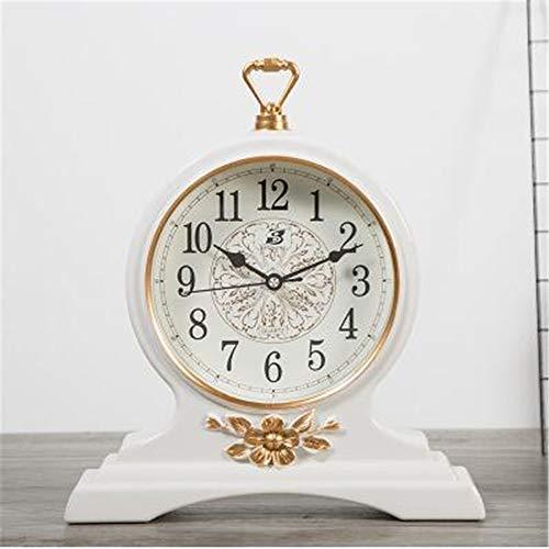 Peggy Gu Reloj de Mesa Vintage Sin tictac con Pilas Decorativa de ...