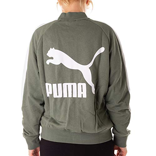 Puma Classics T7 Track Jacket, FT Chaqueta, Mujer, Laurel Wreath, Medium