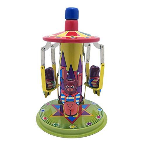 eug Zinnblech Uhrwerk Kette Spielzeug Fotografie Prop Schiebe Boot Geschenk ()