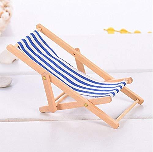 Sedie A Sdraio In Miniatura.Liuer 3pcs 1 12 Miniatura Pieghevole Spiaggia In Legno Chaise Longue