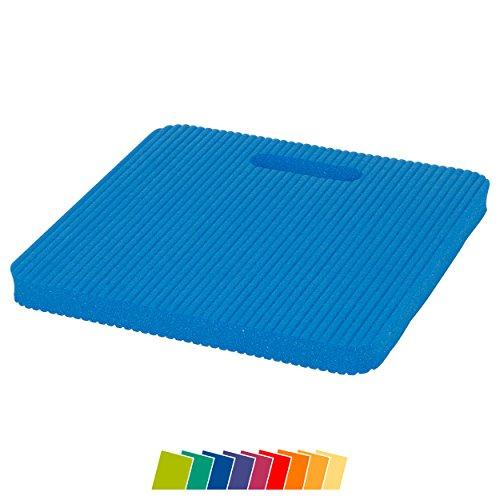 Sitzkissen KLEIN 24 x 24 x 1,5 Gymnastik Kissen Kniematte Farbe: blau
