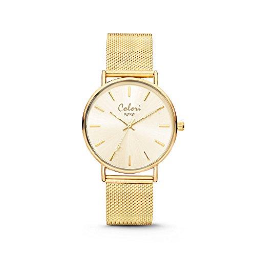 Colori XOXO 5-COL535 - Horloge - mesh band - goudkleurig - ø 36 mm - Xoxo Watchs Frauen