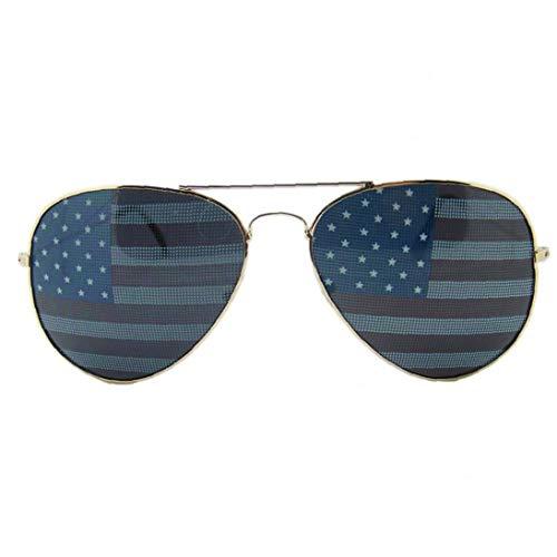 Unisex Klassisch Pilot Sonnenbrillen Für Männer Frauen - Einzigartige American Flag Sonnenbrillen