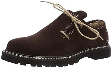 Fuchs Trachtenmoden Haferlschuh, Chaussures Oxford Hommes - Noir - Noir, 44 EU
