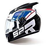 Männer Frauen Moto Motorrad Helm Entfernen Schutz Horn Blendend Full Coverd Helme Motocross...
