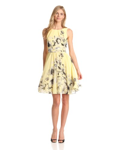 Eliza J Women's Fit and Flare Dress with Rouched Waist