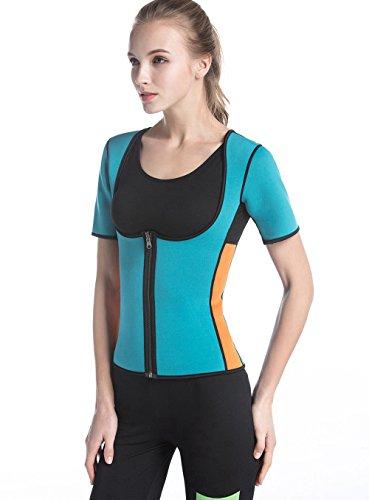 LaLaAreal Mujer Camiseta Reductora Compresion de Neopreno para Adelgaz
