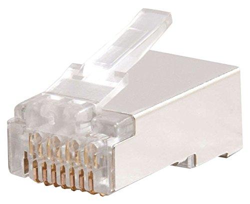Cables to Go 88126 Modularer Kabelbinder für rundes/flaches RJ-45 geschirmtes Category 5 Kabel (100-er Pack) Kabelbinder Runde