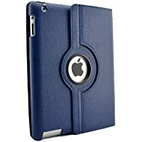 inShang Premium PU Leather Case for iPad 2/3/4 Multi-Function PU Leather Stand/Case/Cover for, with sleep wake compatibility - Blau FOR IPAD2/3/4