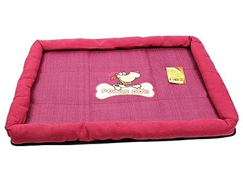 Panier douillet pour chiens lien corbeille couchage POLAR DOG Facile d'entretien nid coin duveteux strass dodo plusieurs dimensions et coloris convenable pour chat aussi, choisir:H-04 chien lit rouge
