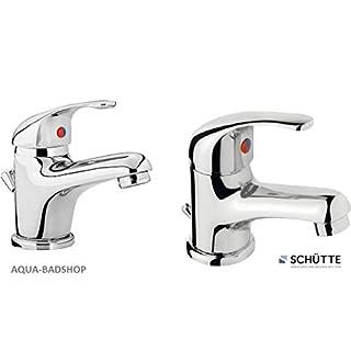 Aqua-Badshop-Waschtischarmatur-Hochdruckarmatur-Waschtischarmaur-Einhebelarmatur -Farbe: Chrom-F.J.Schütte