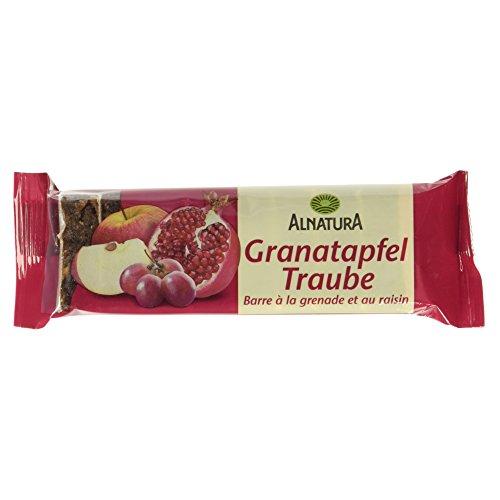 Alnatura Bio Granatapfel-Traube-Fruchtschnitte, vegan, 10er Pack (10 x 75 g)