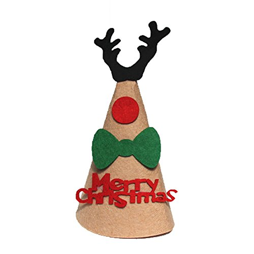 Hmeng DIY Weihnachten Weihnachtsmütze Caps Dekoration Festival Deer -
