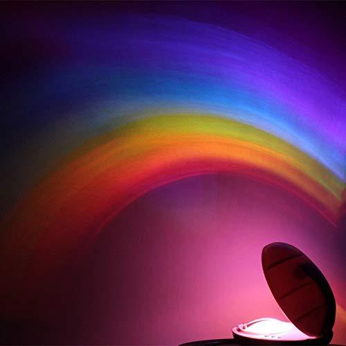 Hukitech - Lámpara LED, proyección del arcoíris, con temporizador